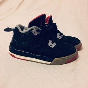 Nike Air Jordan 4 BRED toddler size 8.5C black red